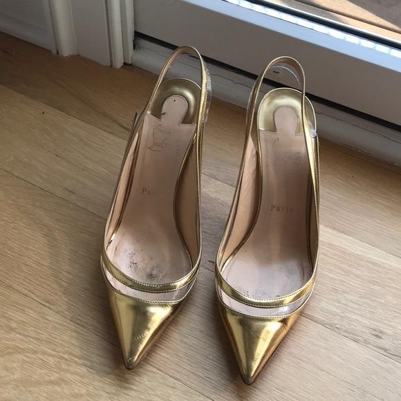 863368592f Christian Louboutin Shoes | 100 Authentic Gold Pumps | Poshmark